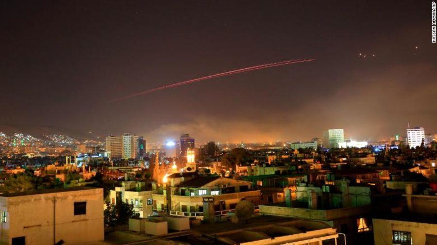 حمله آمريكا، بريتانيا و فرانسه به سوريه