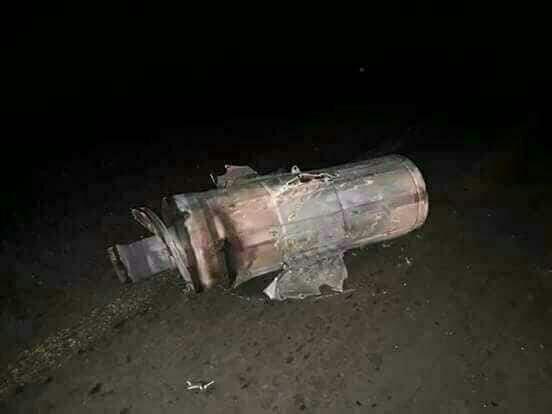 لاشه موشک شلیک شده به سمت سوریه (عکس)