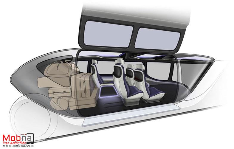 تاکسی هوایی خودران که وسیله نقلیه زمینی را جابجا می کند (+عکس)
