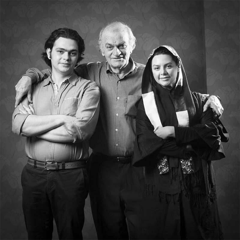 «فتحعلی اویسی» در کنار دختر و پسرش (عکس)