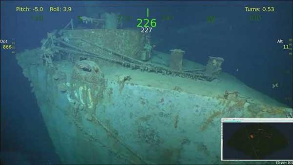 کشف لاشه کشتی جنگ جهانی دوم (+عکس)