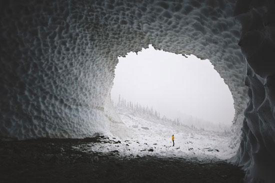 غار یخی واشنگتن (عکس)