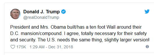استدلال ترامپ: اوباما دیوار بکشد من دیوار نکشم!