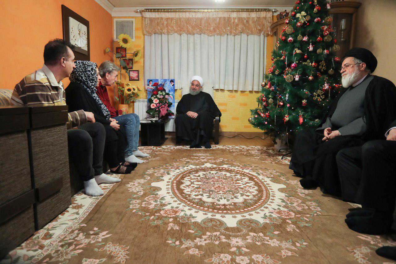دیدار رییس جمهور با جانباز ارمنی در آستانه سال 2019 (+عکس)