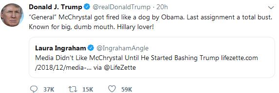 توهین ترامپ به ژنرال 4 ستاره آمریکایی: