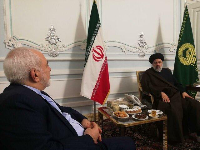 دیدار ظریف با رییسی در مشهد (+عکس)