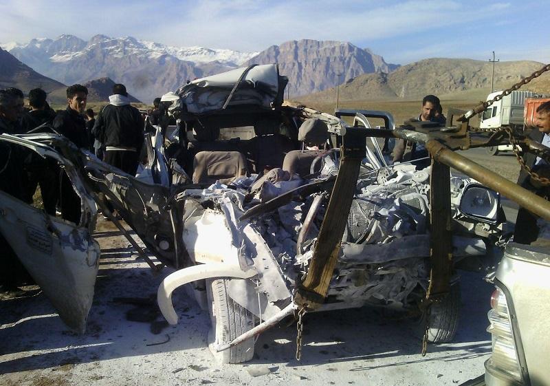 3 کشته در تصادف جاده کرمانشاه (+عکس)