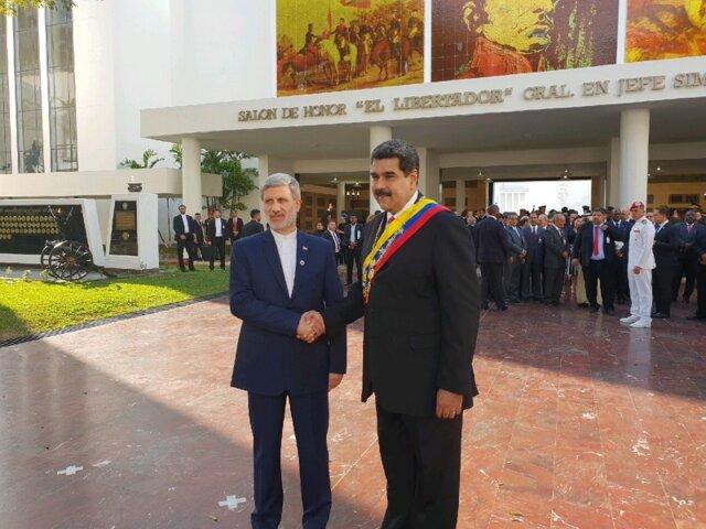 حضور وزیر دفاع در مراسم تحلیف رئیسجمهور ونزوئلا