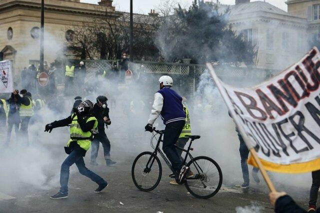نهمین شنبه اعتراضات جلیقه زردها در فرانسه