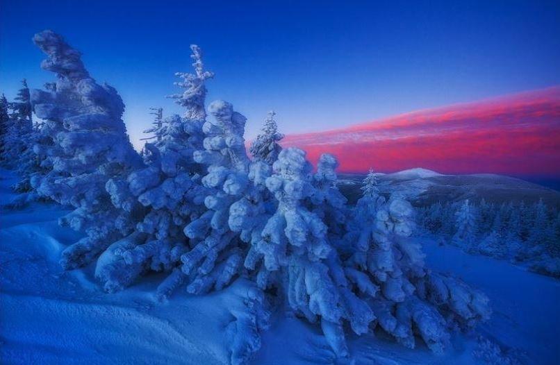 آسمان داغ زمین یخی (عکس)