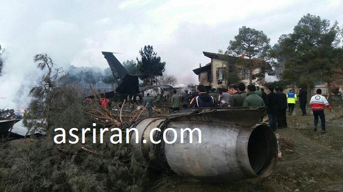 سقوط بوئینگ قرقیزستانی در نزدیک کرج (+فیلم و عکس)