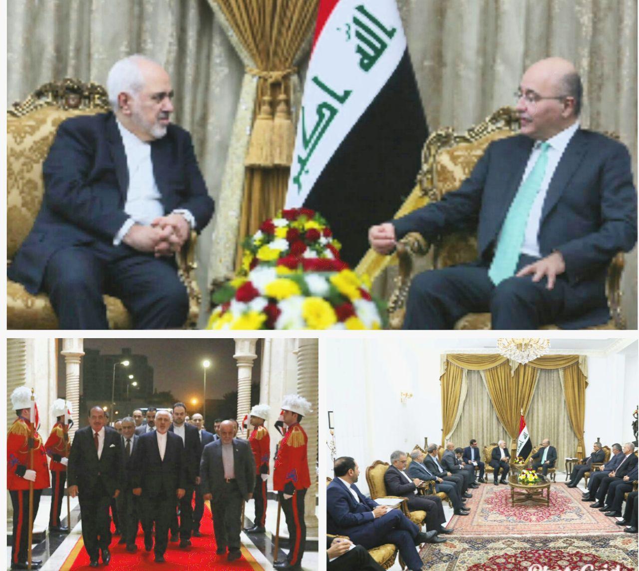 دیدار ظریف با رئیس جمهور عراق (عکس)