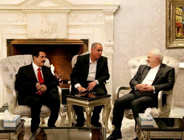 دیدار ظریف با دبیرکل اتحادیه میهنی کردستان عراق (عکس)