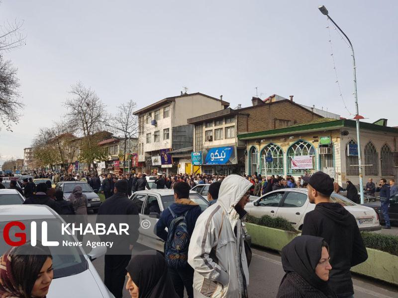 ورود سارق مسلح به یکی از ساختمان های خیابان بیستون رشت / پلیس خیابان را بست / (+تصاویر)