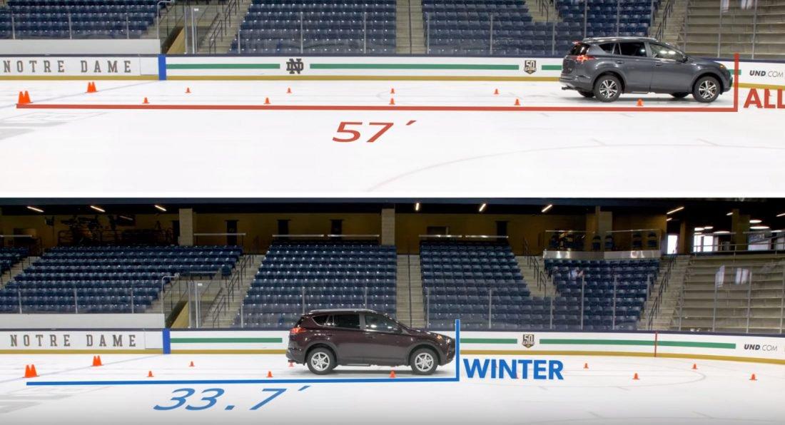 قابلیت محرک تمام چرخ برای حرکت زمستانی کافی نیست/ لاستیکها را تغییر دهید