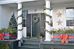 تزیینات ورودی خانه برای کریسمس (عکس)