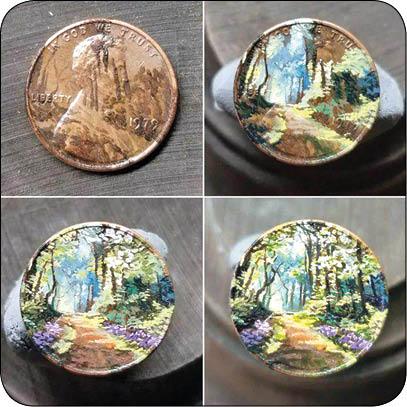 هنرنمایی روی سکه