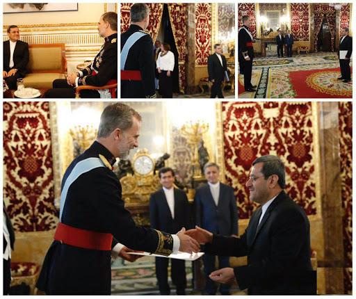 سفیر جدید ایران استوارنامه خود را تقدیم پادشاه اسپانیا کرد