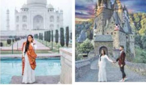 سفر به دور دنیا با لباس عروسی