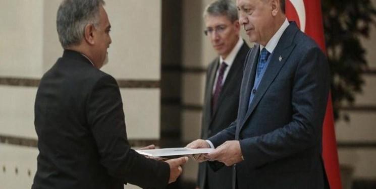 سفیر جدید ایران در ترکیه استوارنامه خود را تقدیم اردوغان کرد