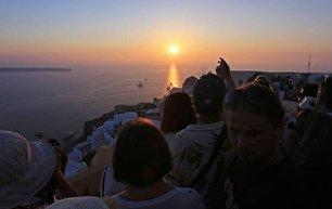 جزیره سفید و آبی یونان (عکس)