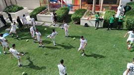 تمرین سبک تیمملی فوتبال در هتل