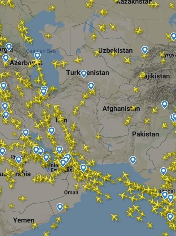 افزایش پرواز از آسمان ایران پس از تنش هند و پاکستان