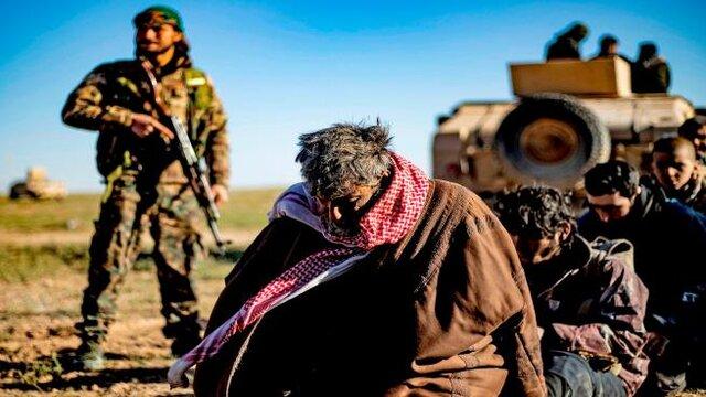 حمله فسفری ائتلاف آمریکایی به داعش در باغوز در سوریه