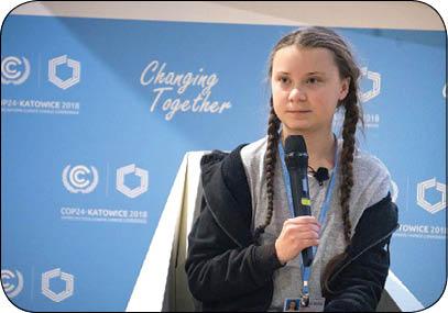 دختر نوجوان، پیشرو در مبارزه با گرمایش زمین (+عکس)