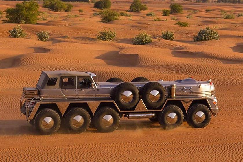 بزرگترین SUV جهان یک هیولای 10 چرخ است