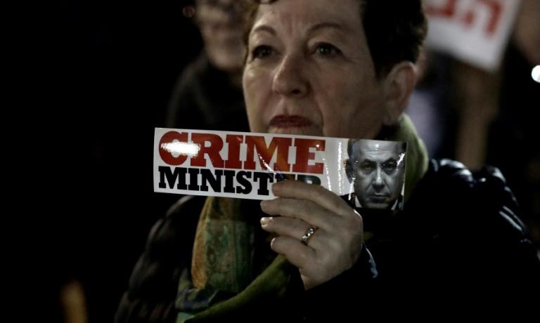 تجمع مخالفان و موافقان نتانیاهو در تل آویو (+عکس)