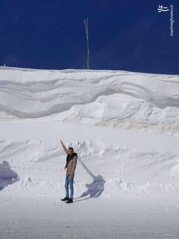 بارش 5 متر برف در چهارمحال و بختیاری (عکس)