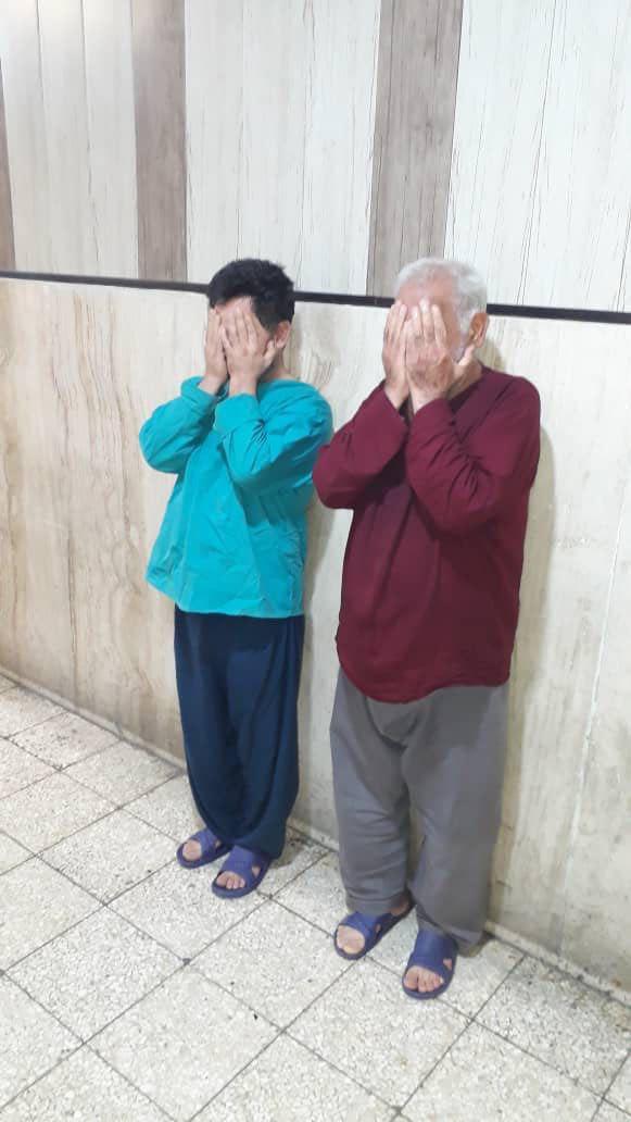 پیرمردی با کمک پسرش زن سابقش را کشت و تکه تکه کرد (+عکس متهمان)