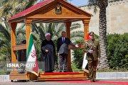 استقبال گارد ریاست جمهوری عراق از روحانی (فیلم)