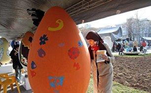 جشنواره تخممرغهای رنگی در آستانه نوروز در قزوین (+عکس)