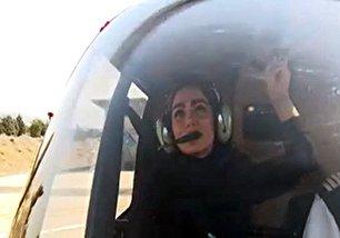 اولین خلبان زن بالگرد در ایران (+عکس)