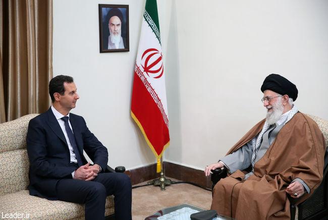 سفر بشار اسد به تهران/ دیدار با مقام معظم رهبری و روحانی (+عکس)