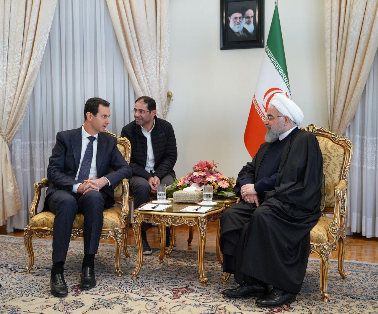روحانی در دیدار بشار اسد: ایران همچون گذشته در کنار مردم و دولت سوریه خواهد بود