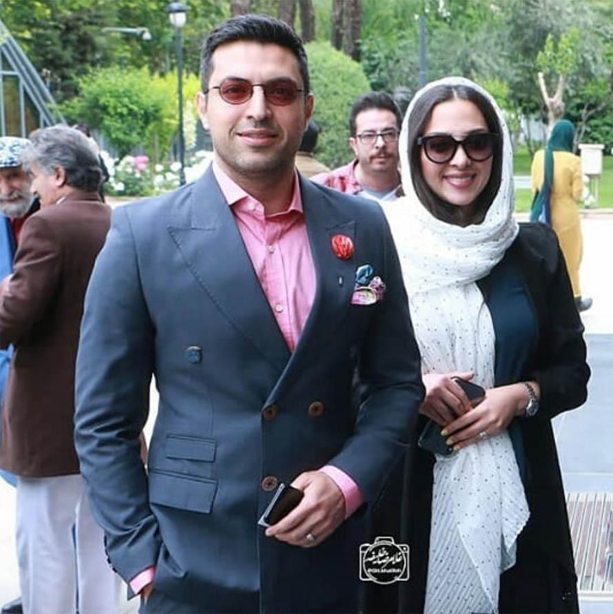 اشکان خطیبی و همسرش (عکس)