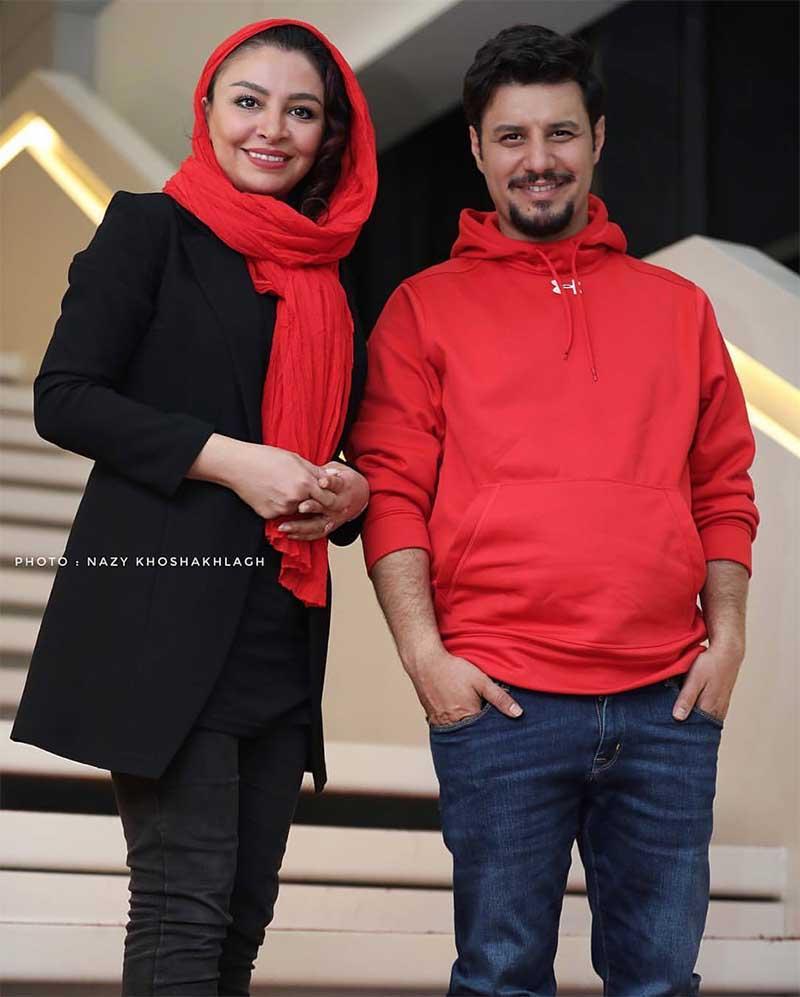 جواد عزتی و همسرش در جشنواره جهانی فیلم فجر (عکس)