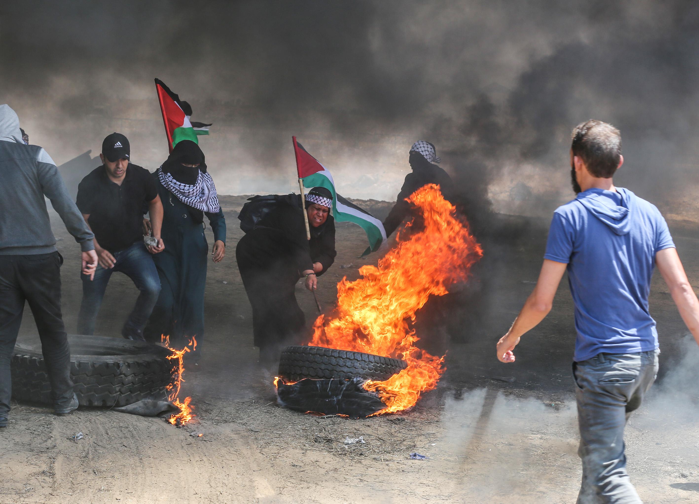 تعداد شهدای فلسطینی در نوار غزه به 55 نفر رسید