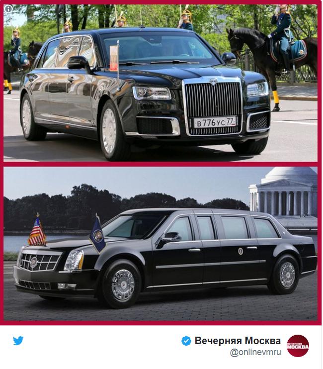 خودروی تشریفاتی ترامپ قویتر است یا پوتین؟ (+عکس)