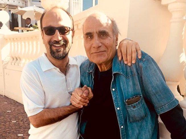 دیدار اصغر فرهادی با امیر نادری در جشنواره کن