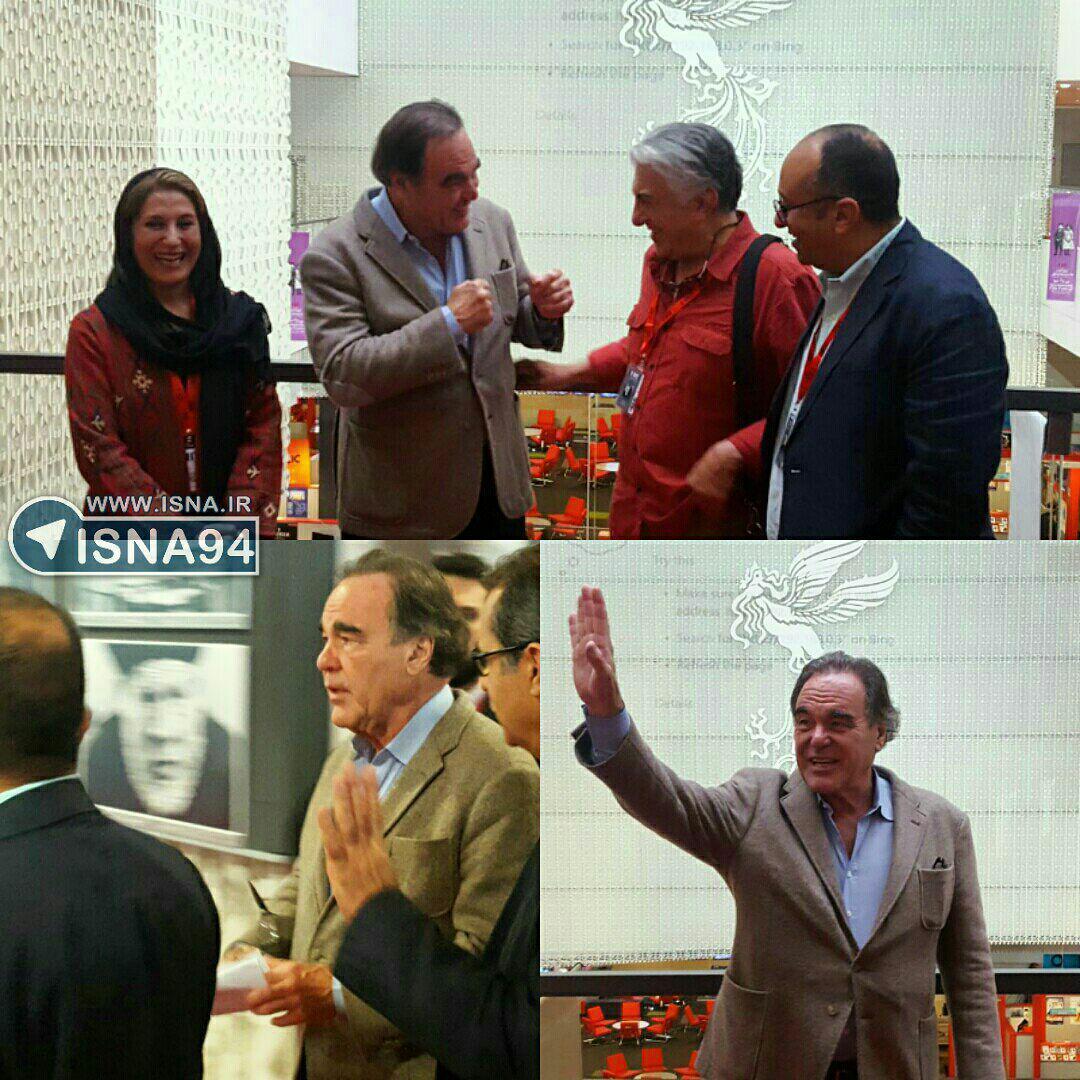 حضور الیور استون در کاخ جشنواره جهانی فجر (+عکس)