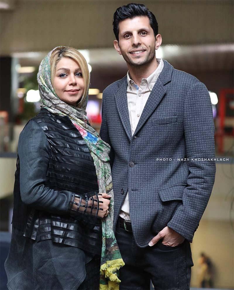 وحید طالبلو به همراه همسرش در جشنواره فیلم فجر (عکس)