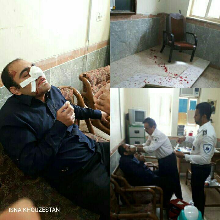 کتک زدن یک معلم توسط والدین دانش آموز در خورستان (+عکس)/ ضارب دبیر فیزیک متواری است