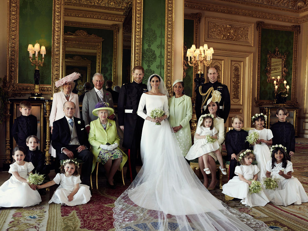 خانواده سلطنتی بریتانیا در روز عروسی (عکس)