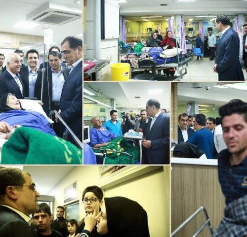 بازدید شبانه وزیر بهداشت از 3 بیمارستان تهران (+عکس)
