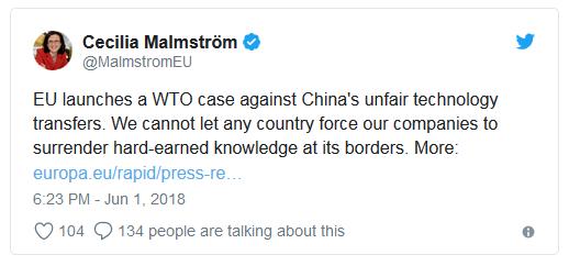 شکایت اتحادیه اروپا از آمریکا و چین به سازمان تجارت جهانی