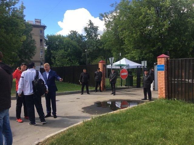 تدابیر امنیتی شدید در محل تمرین تیم ملی (+عکس)
